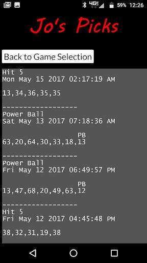 Jo's Picks 1.0.08 screenshots 3