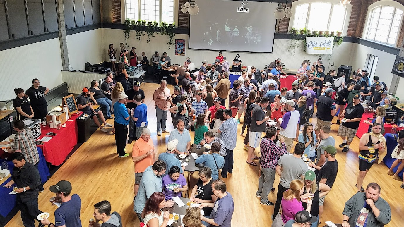 Snackdown 2017 for PDX Beer Week, a food and beer pairing event with a wrestling theme offering 10 Portland chef and 10 Oregon brewers working together
