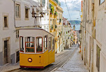 #35884903 - Lisbon's Gloria funicular connects downtown with Bairro Alto.
