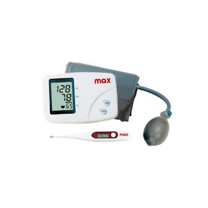 Kit Max - Tensiometru de brat cu 90 memorii, include termometru