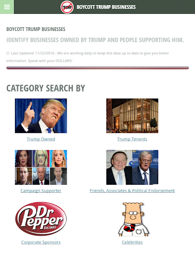 Boycott Trump screenshot