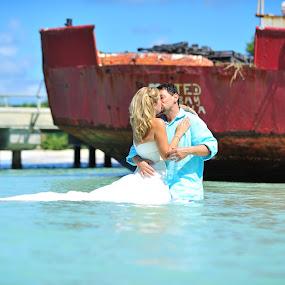 by Jennifer Lamanca Kaufman - Wedding Bride & Groom