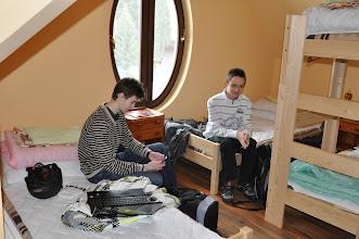 """Photo: Ubytováváme se - bez """"notebooku a mobilu ani ránu""""."""