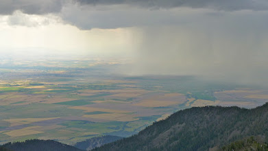 Photo: This is why we didn't climb Hardscrabble - It rained on us from the pass down, but we didn't melt.