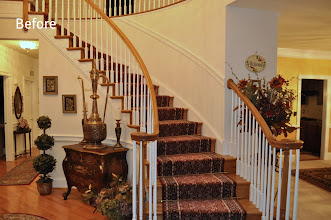 Photo: (Before) Foyer Stairs Toll Brothers home Northampton, PA