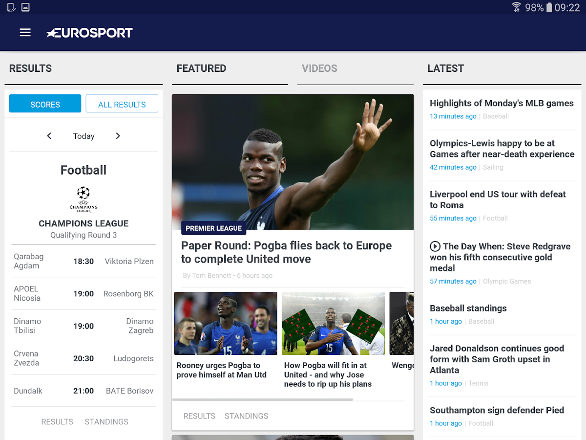 Eurosport- screenshot