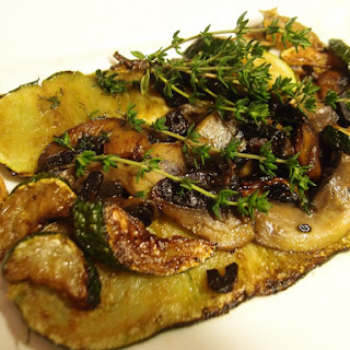 Courgette With Mushroom And Thyme.