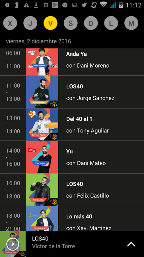 LOS40 Radio- screenshot