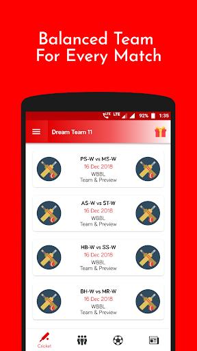 DT11 - Dream11, MyTeam11 Pro-Tips 2.0.7 screenshots 1