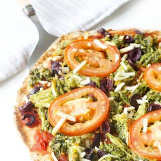 Skinny Pesto Chicken Pizza.
