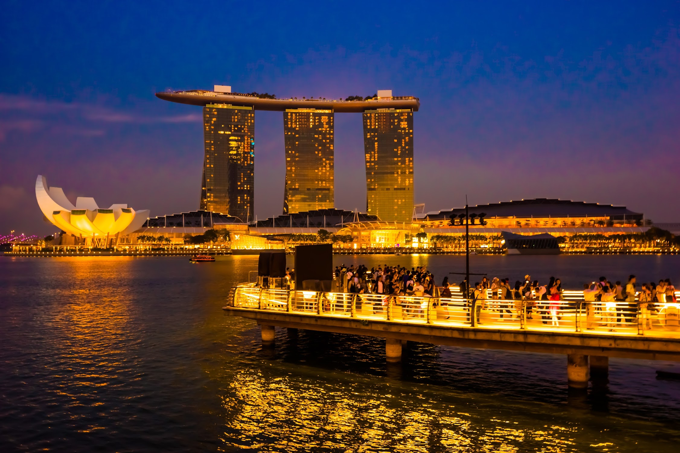 Singapore Marina Bay Sands sunset2