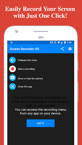 screen recorder - record with facecam and audio screenshot 1