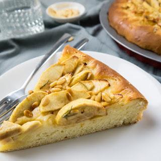 Pine Nut & Rosemary Apple Butter Cake.