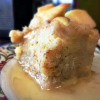 Apple Bread Pudding w/Vanilla Bean Sauce