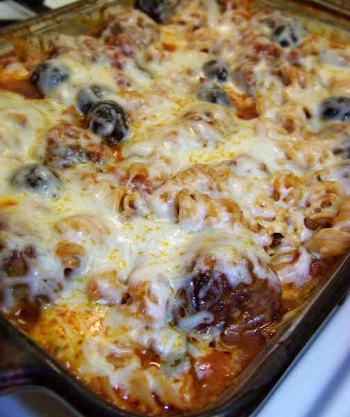 Meatball & Pasta Bake Recipe