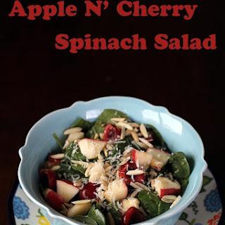 Apples N' Cherries Spinach Salad.