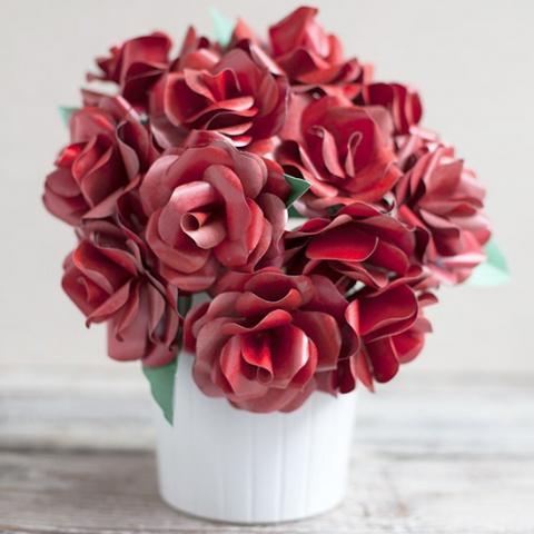 紙の花のチュートリアル