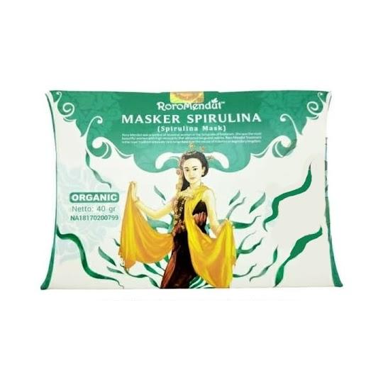 Masker Spirulina RoroMendut 40 Gr original asli menghaluskan kulit wajah