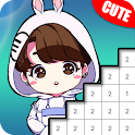 Doll Pixel Art - Color by Number icon