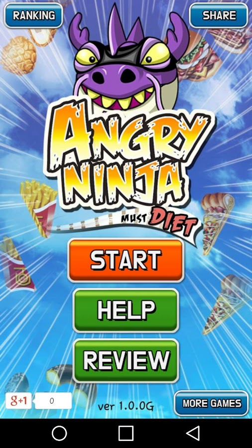 Angry Ninja Diet- screenshot