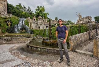 Photo: Daniele in La Rometta fountain (with references to Rome) in Villa d'Este in Tivoli, Lazio, Italy