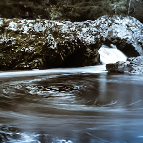 amat steps pool by Morag Soszka - Landscapes Waterscapes ( scotland, sutherland, ardgay, pool, waterfall, waaterscape )