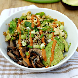 Fall Veggie Power Bowl with Peanut Citrus Sauce