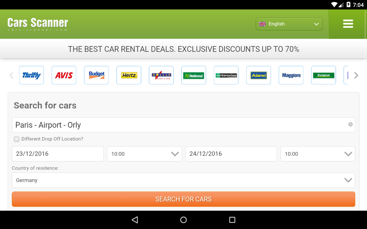 Rental Cars For Ages  And Up