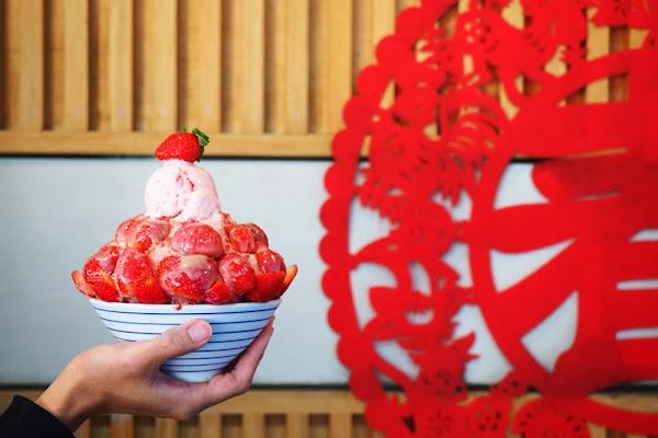 有春冰菓室|草莓季來囉!滿滿滿草莓冰好過癮!台中草莓冰推薦!