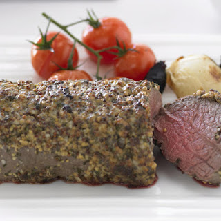Mustard-Crusted Beef with Lemon and Garlic Aioli