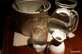 Photo: Awamori  (traditional liquor on Okinawa) needs to be drunk with water and ice - it is 40% alcohol content