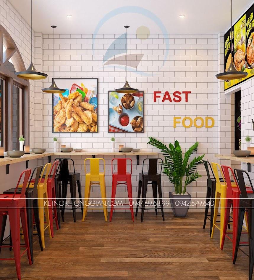 thiết kế cửa hàng gà rán đài loan 9
