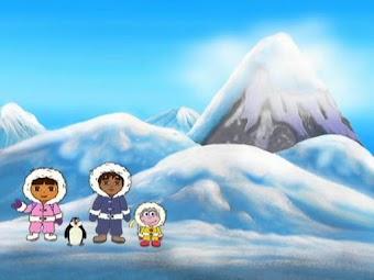 Dora au Pole Sud