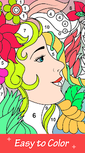 Perfect Adult Coloring - Color By Number Book Page