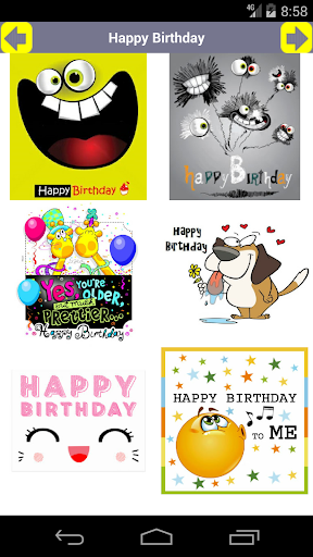 Screenshot for Happy Birthday, Card, GIF, Video (1.6M+ Installs) in Hong Kong Play Store