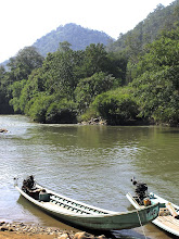 Photo: Long-tail boats on the Pai River in Mae Hong Son