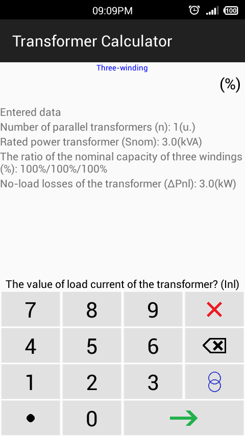 Transformer calculator android apps on google play transformer calculator screenshot keyboard keysfo Image collections