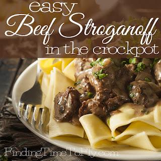 Easy Beef Stroganoff in the Crock Pot.