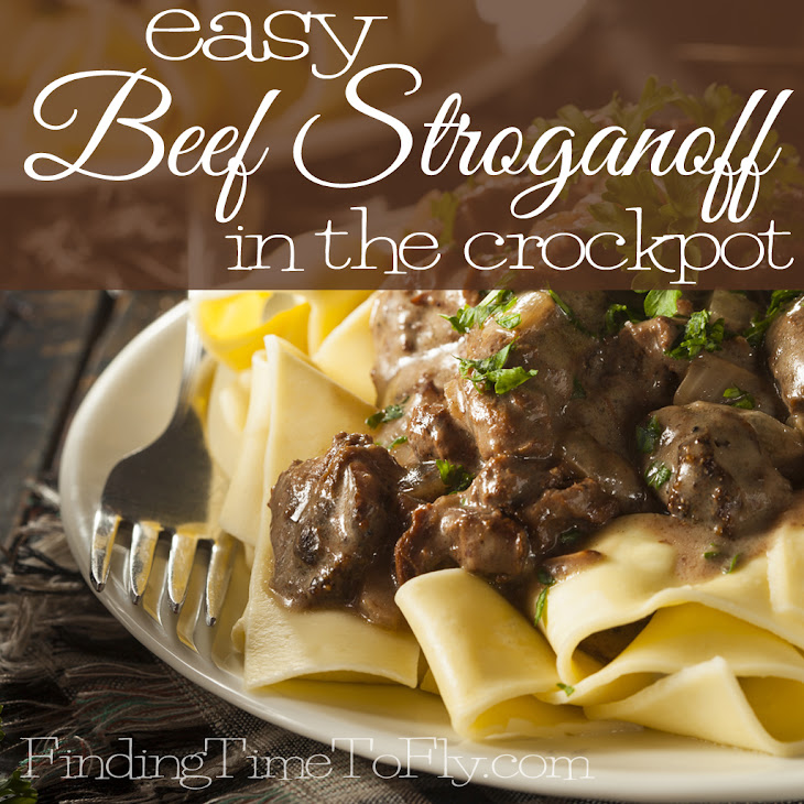 Easy Beef Stroganoff in the Crock Pot