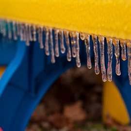 Cold Play by Michael Graham - Artistic Objects Still Life ( icicles, winter, cold, icicle, table,  )