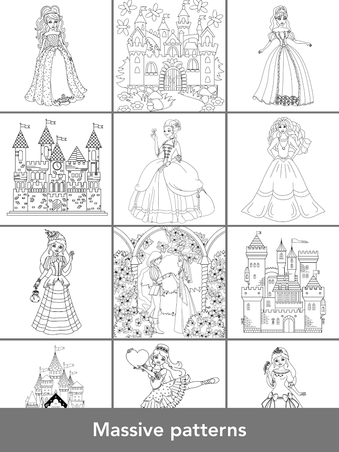 Princess Coloring Books Screenshot