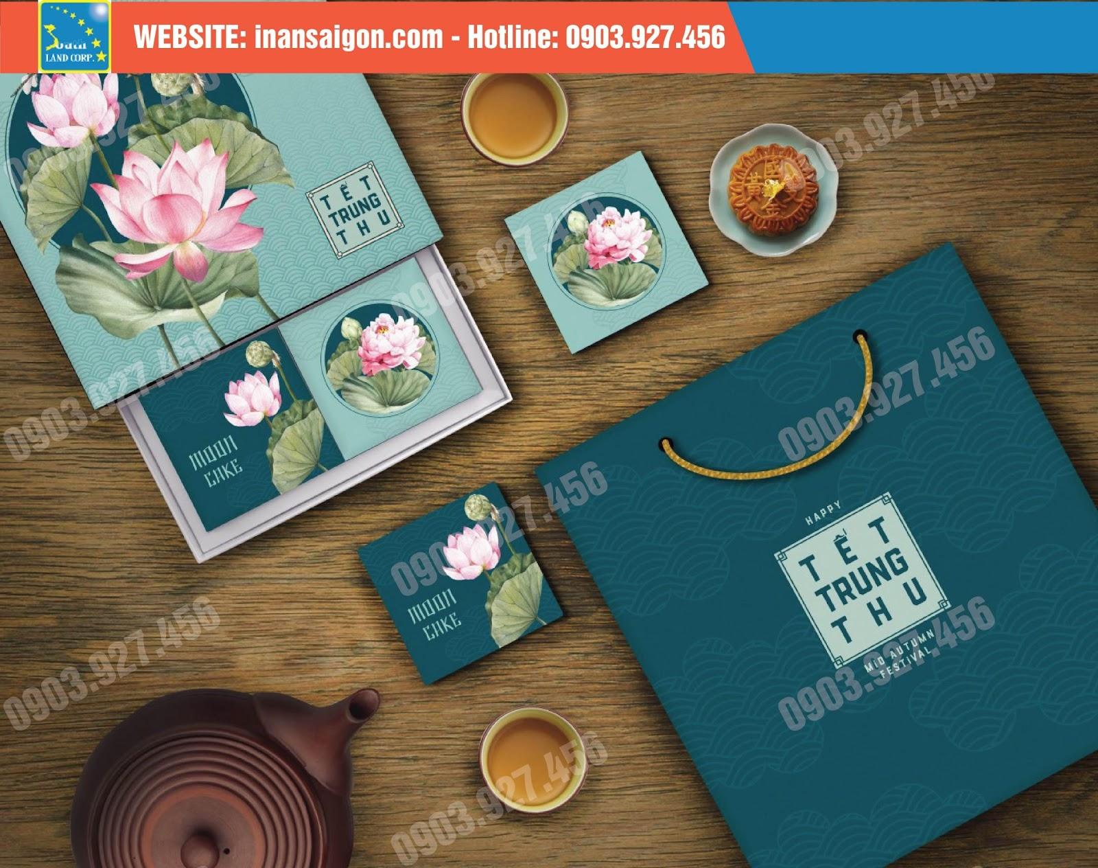 họa tiết hoa sen tinh tế trên hộp