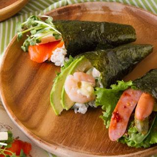 3 Varieties of Temaki Sushi (Hand Rolls)