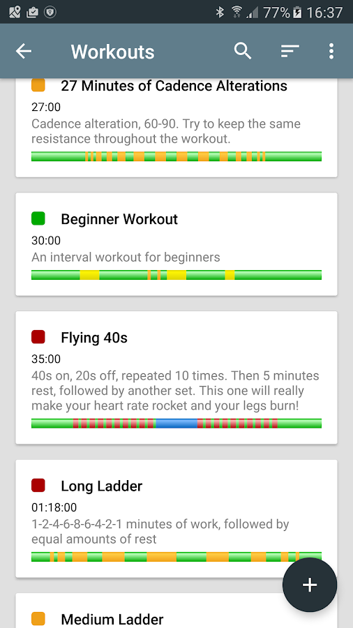 JaBIT - Exercise Bike Workout Timer- screenshot