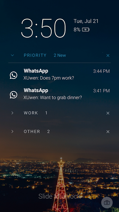 Echo Notification Lockscreen- screenshot