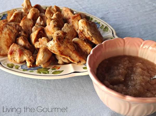 Brined Chicken W/ Sautéed Onion Dipping Sauce