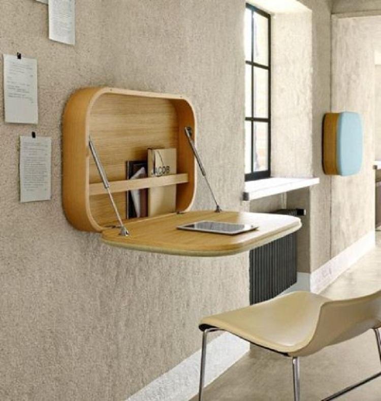 Tiết kiệm không gian với bàn học treo tường