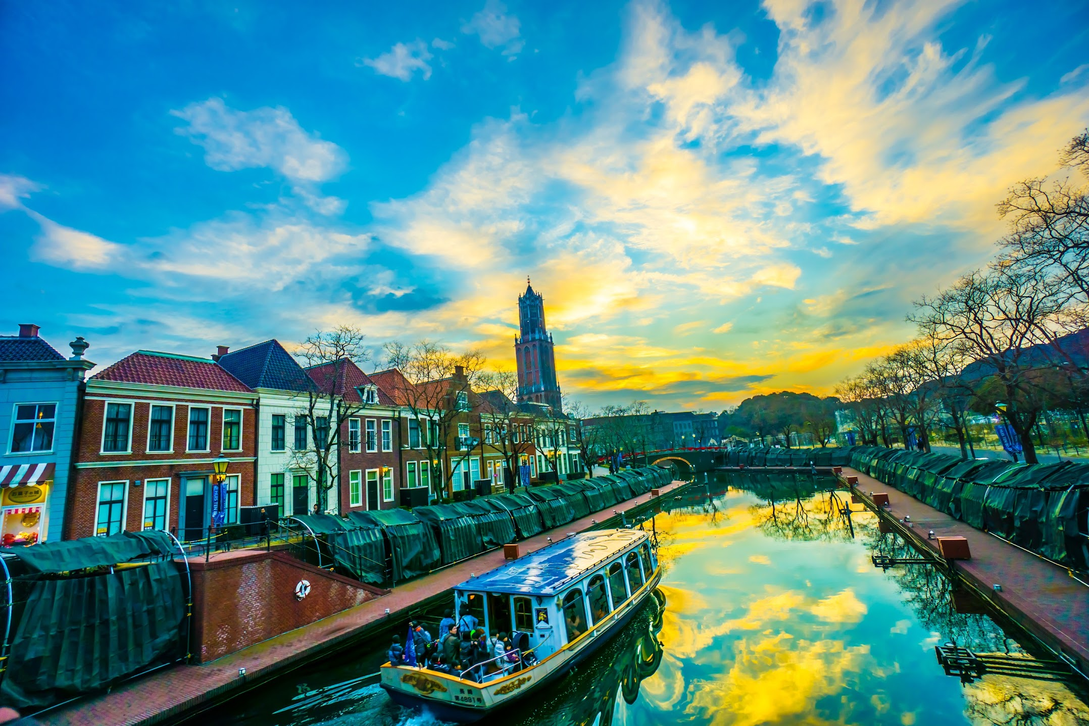 Huis Ten Bosch Canal Cruiser sundown4
