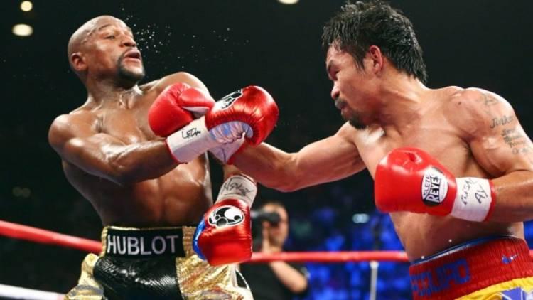 Manny Pacquiao y Floyd Mayweather