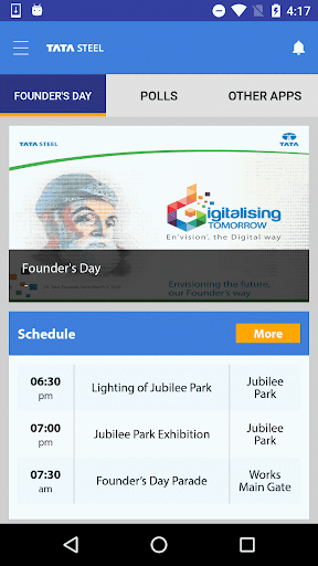 Tata Steel Events screenshot